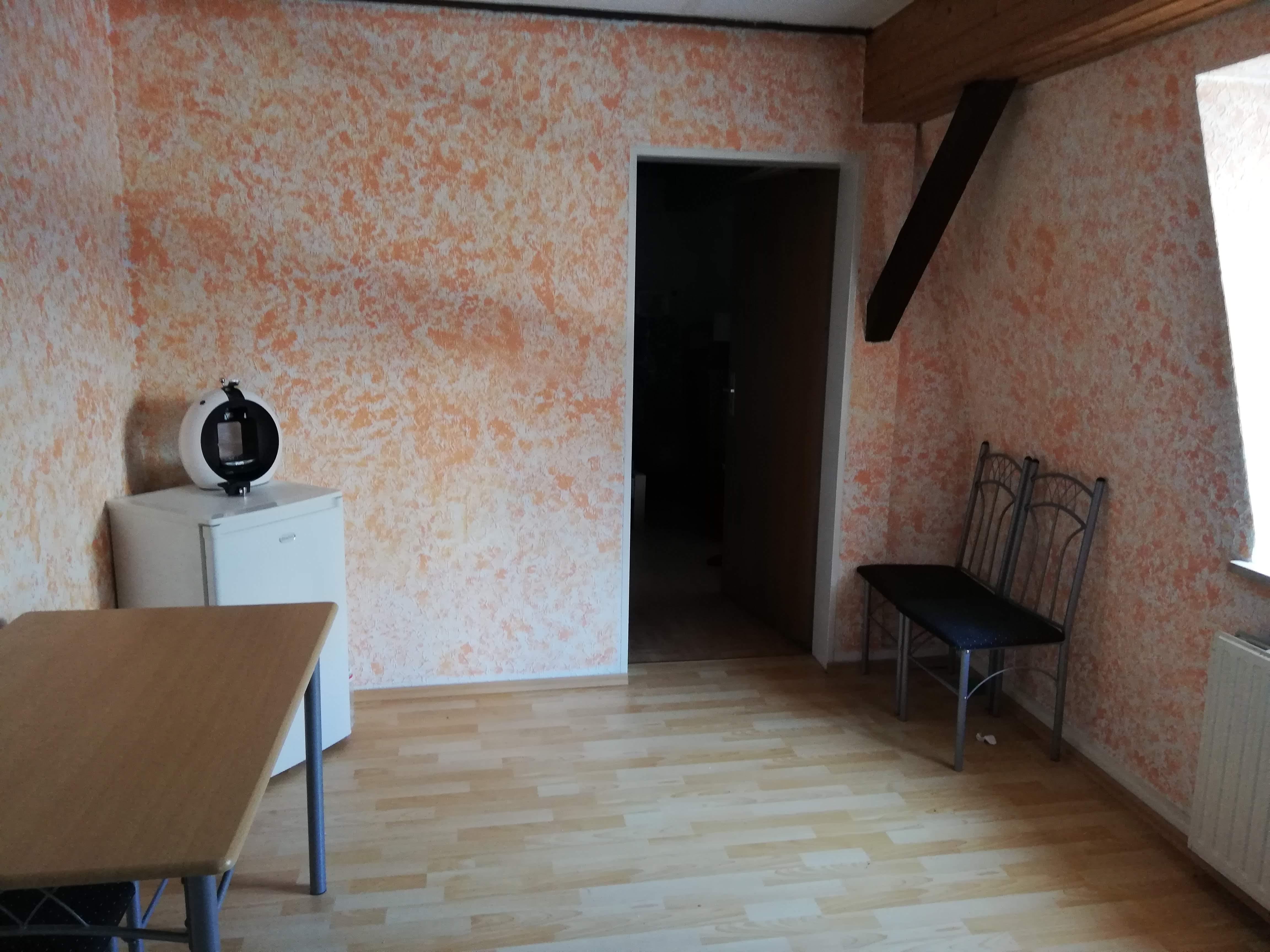 Wohnzimmer Produktonsecke vorher Bild