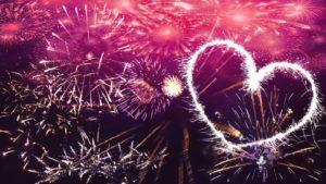 Silvester Feuerwerk mit Herz