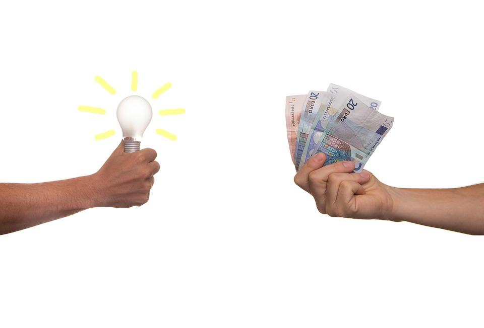 Idee und Plan gegen Geld