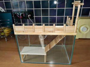 Sandbad aus Aquarium gebaut