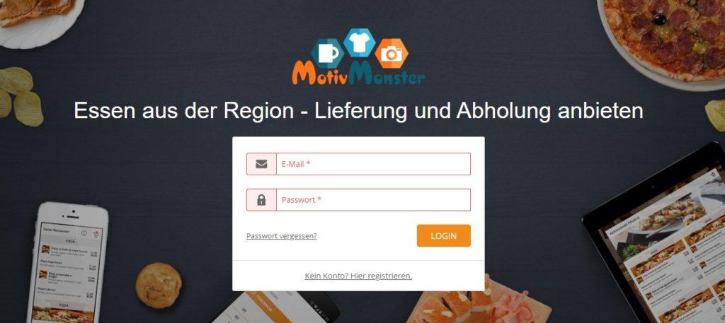 Webseite Screenshot - Essen aus der Region
